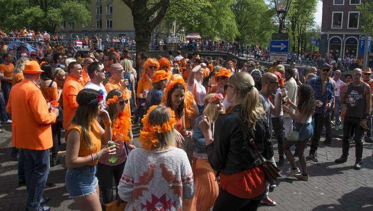 Het centrum van Amsterdam, gisteren. Beeld anp