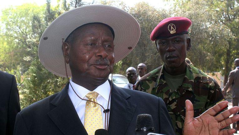 De Ugandese president Yoweri Museveni Beeld ANP