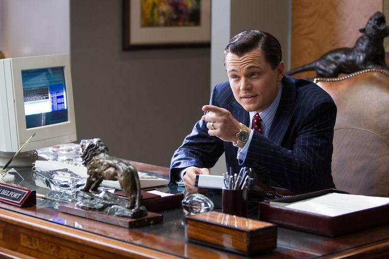 Leonardo Di Caprio in 'The Wolf of Wall Street'. Beeld rv