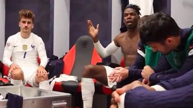 Football Talk. Pogba laat zich gelden in Franse kleedkamer - Opstootje tussen Hongaarse fans en Londense politie in Wembley