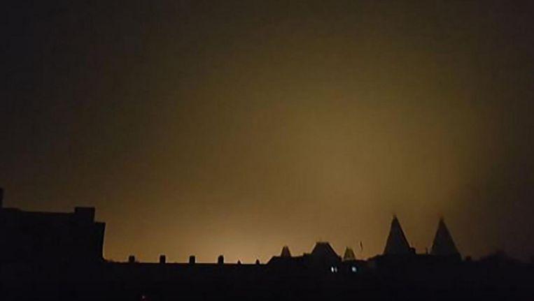 Het Rijksmuseum tijdens de stroomstoring, dinsdagochtend. Beeld Bonne Kerstens