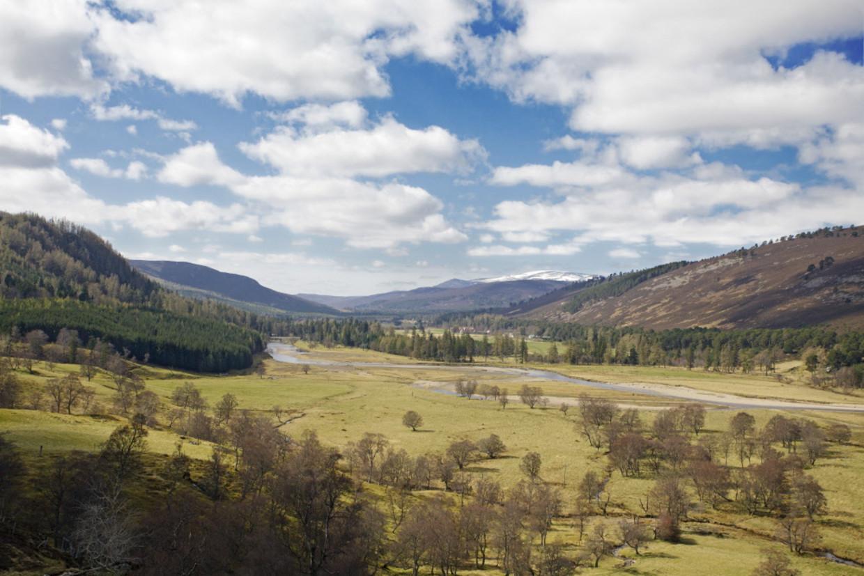 Mar Lodge Estate en rivier de Dee, Schotland.