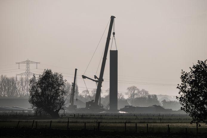 JV 11112020 Angerlo Nl / Windmolens in aanbouw Byvanck Didamse wetering/ Foto : Jan Ruland van den Brink