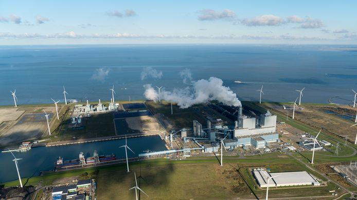 Energiecentrale in de Groningse Eemshaven.