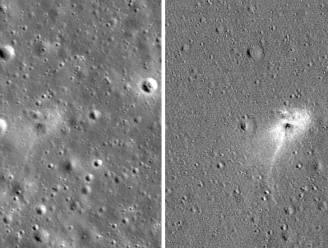 NASA deelt foto's van laatste rustplaats van Israëlische maanlander