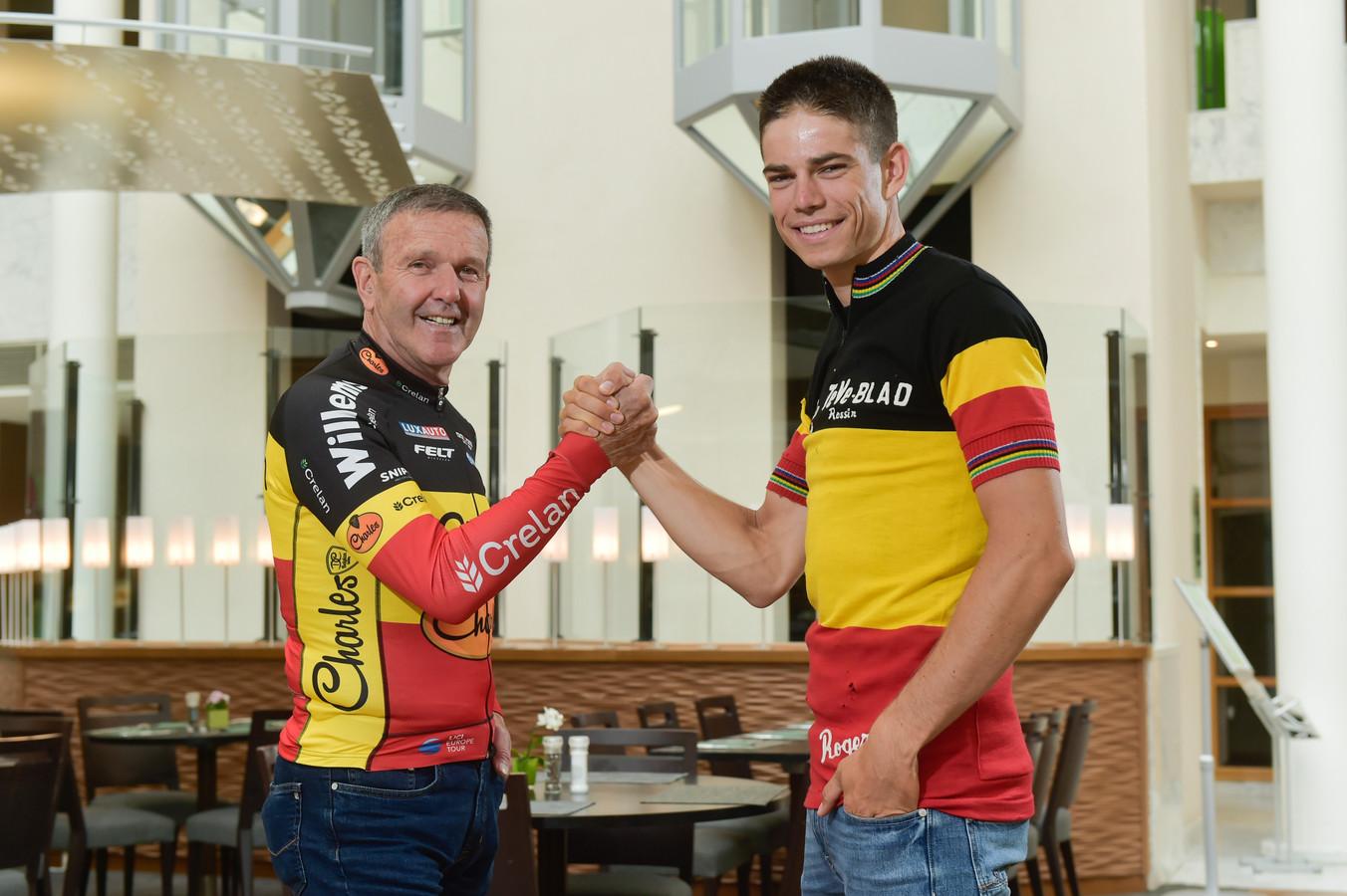 Roger De Vlaeminck met Wout van Aert.