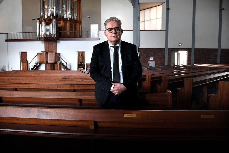 Ouderling Teunis Bunt van de Gereformeerde Gemeente (GG)  Beeld Marcel van den Bergh / de Volkskrant