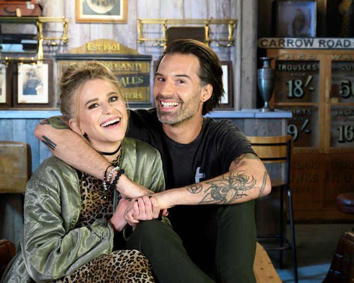 Sean Dhondt met zijn partner Allison Scott