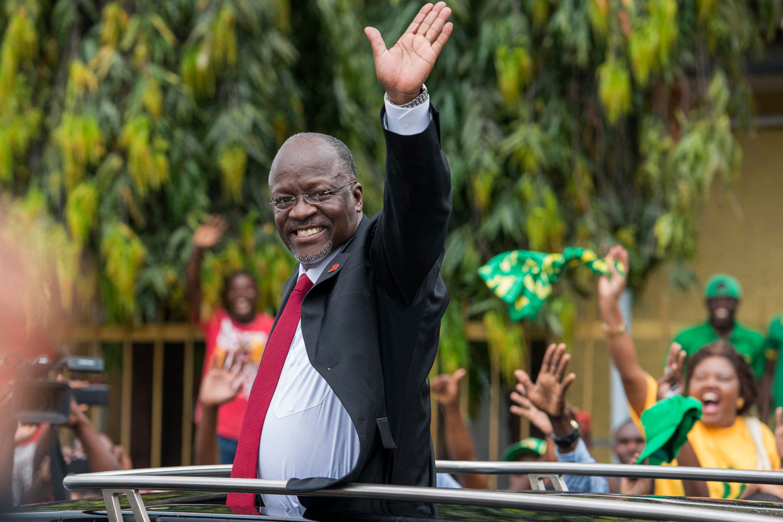 John Magufuli in 2015. Beeld Daniel Hayduk / AFP