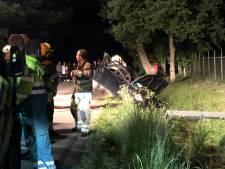 Auto ligt volledig in puin in sloot Lunteren, maar waar is het slachtoffer?