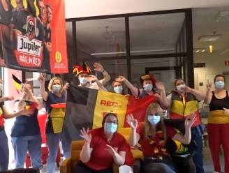 VIDEO Bewoners en personeel wzc Sint-Remigius gaan uit de bol voor de Rode Duivels