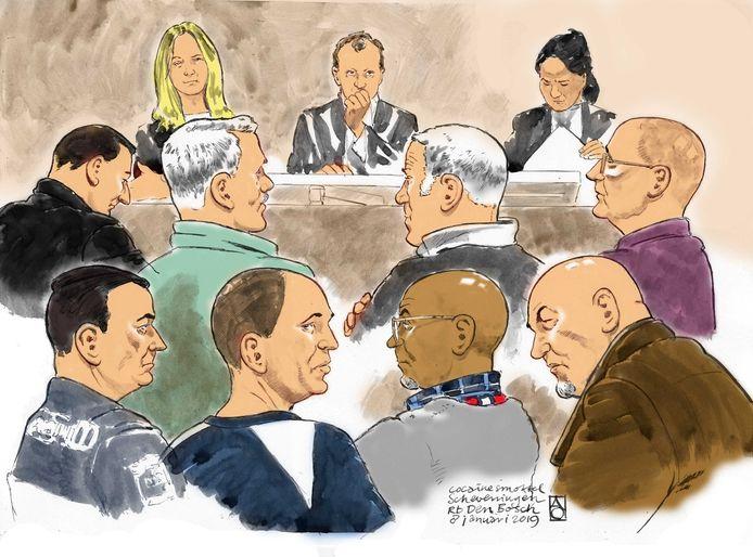 Vorig jaar stonden John H. en medeverdachten in Den Bosch terecht voor de verkoop van 50 kilo cocaïne. H. kreeg acht jaar cel en ging in hoger beroep.