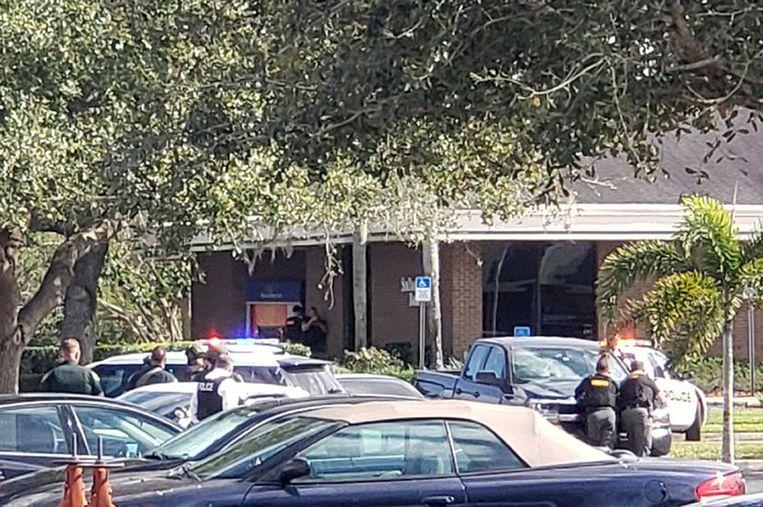 Het filiaal van de SunTrust Bank in Sebring waar de schietpartij zich voordeed.