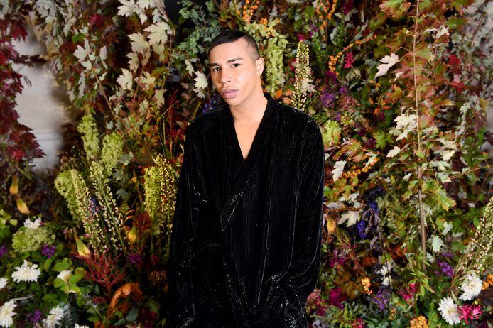 Olivier Rousteing op 1 oktober tijdens Paris Women's Fashion Week.