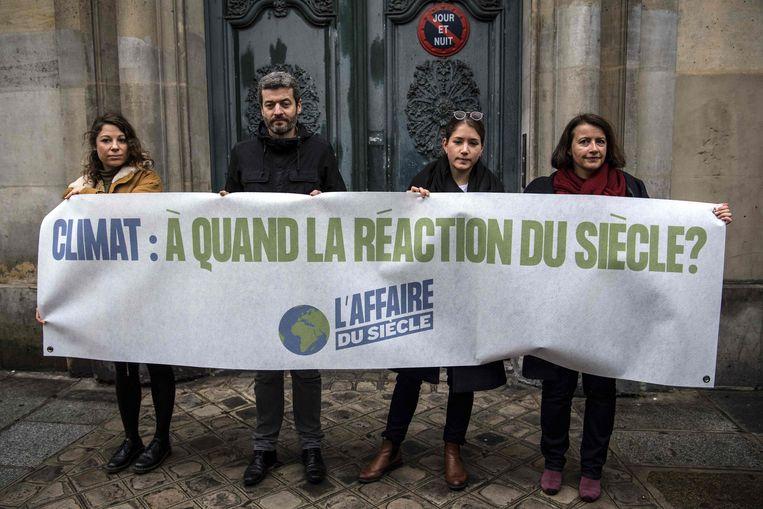 Frankrijk moet nu symbolisch een euro betalen aan alle actiegroepen die de zaak hebben aangespannen. Beeld AFP