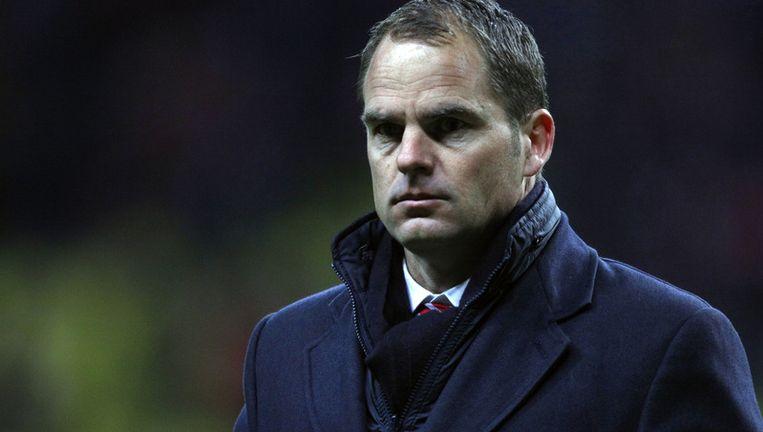 Frank De Boer zag Ajax een gelijkspel in de slotfase uit handen geven. Beeld AP