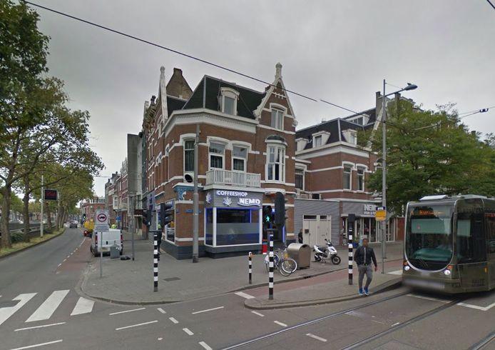 Coffeeshop Nemo aan de Nieuwe Binnenweg in Rotterdam.