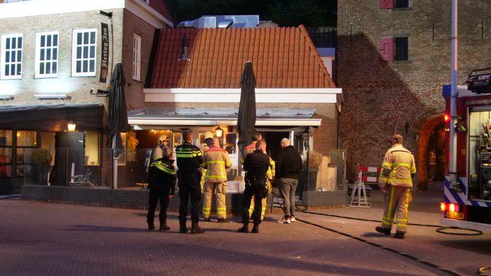 Het restaurant liep door de brand veel schade op.