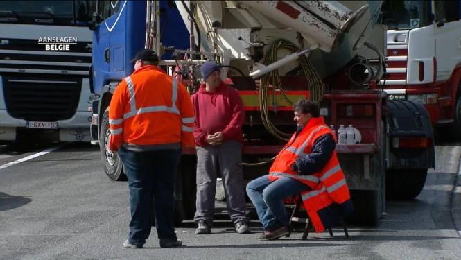 Kerosinetekort dreigt in Charleroi door acties vrachtwagenchauffeurs