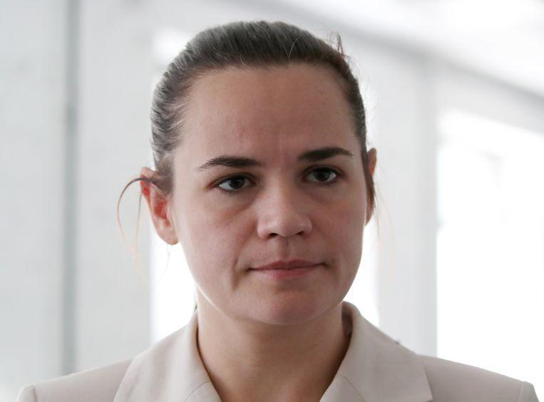 Oppositieleider Svetlana Tichanovskaja Beeld EPA
