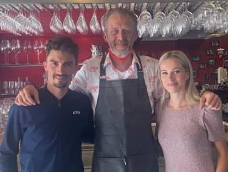 """Bistro Tribunal 'Chez Yf' kreeg vanmiddag een wereldkampioen op bezoek: """"Julian Alaphilippe vertelde dat het een pittige finale gaat worden in Leuven"""""""
