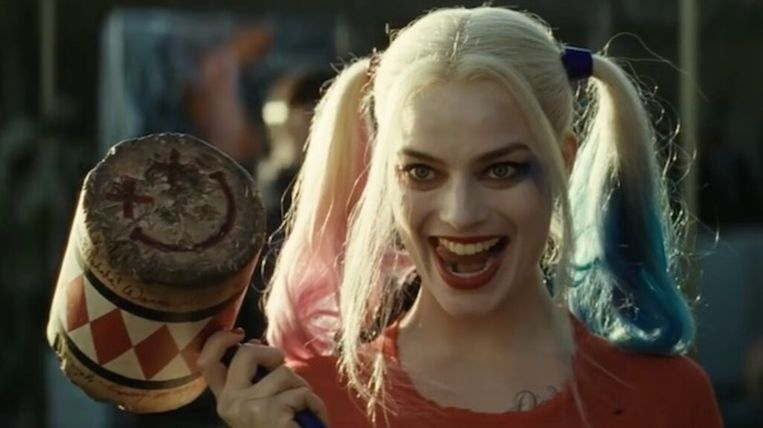 Margot Robbie als Harley Quinn in Suicide Squad Beeld f
