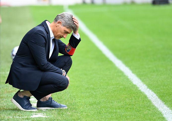 """Felice Mazzu: """"We moeten zeer positief blijven tegen de spelers, want ze hebben een sterke match gespeeld."""""""