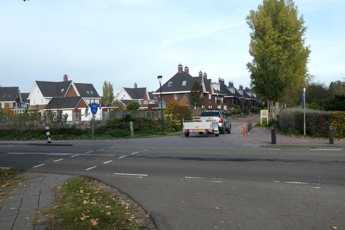 De hoek Schijndelseweg/Vestdijkstraat in Sint-Michielsgestel.