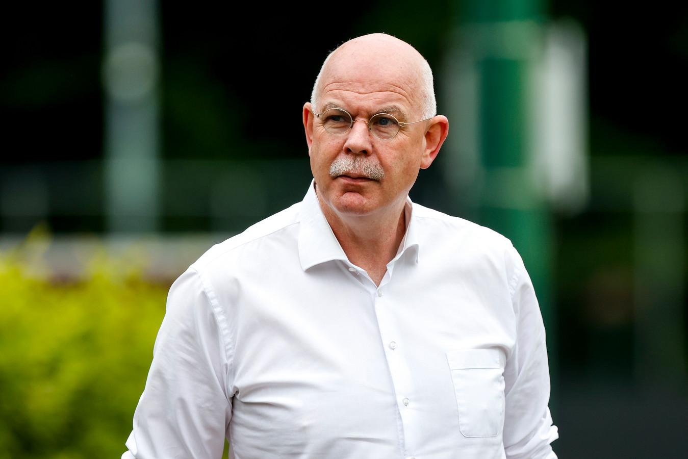 Toon Gerbrands, de directeur van PSV, op het trainingscomplex van zijn club in Eindhoven.