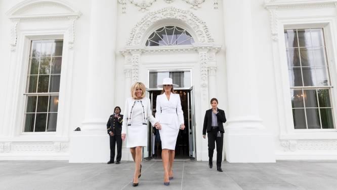 """Brigitte Macron: """"Melania Trump is charmant, intelligent en leuk gezelschap. We hebben veel gelachen samen"""""""