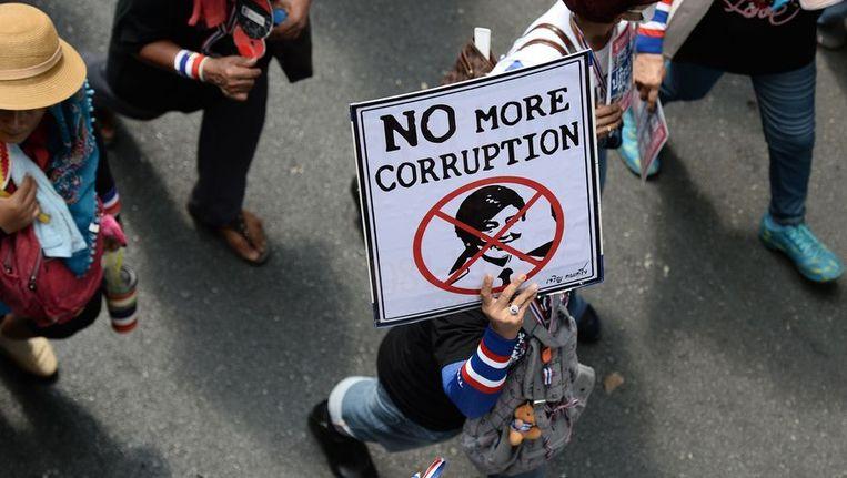 Demonstratie in Bangkok. Beeld ap