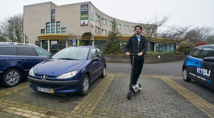 Het voormalige Oranjehotel in Veghel wordt nog even bewoond door arbeidsmigranten. Een van hen is Goncalo Abreu uit Portugal (foto).