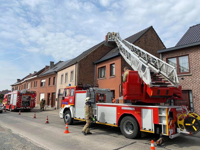 De brandweer had alles snel onder controle.