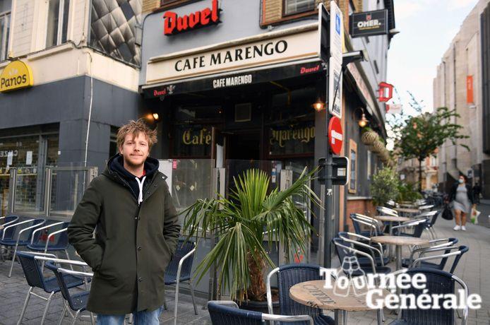 Café Marengo is een legendarische zaak die haar naam ontleent aan het legendarisch paard van Napoleon.