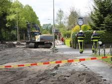 Gasleiding geraakt tijdens graafwerkzaamheden in Roosendaal
