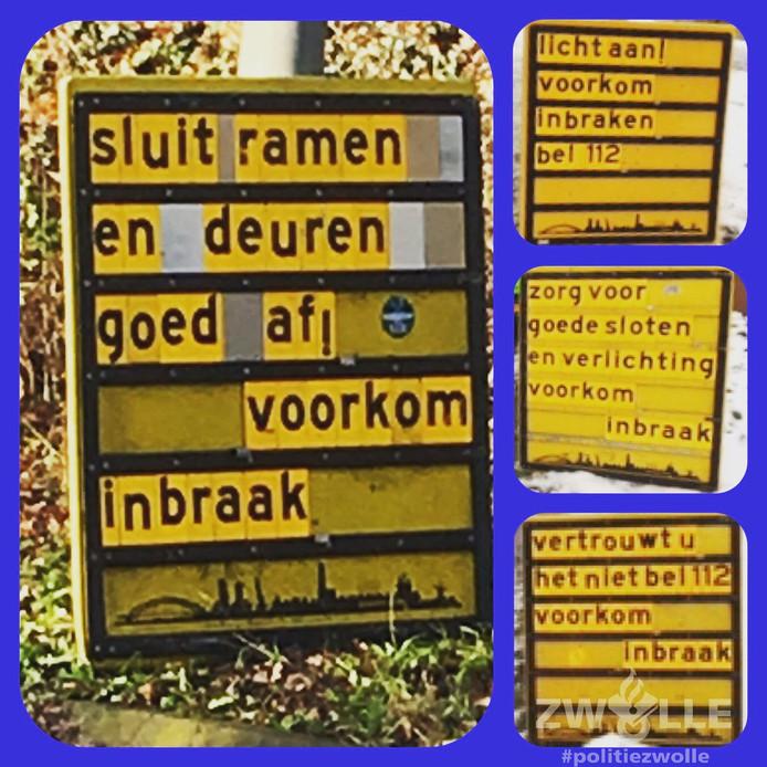 Anti-inbraakborden in Zwolle: gewaarschuwd mens telt voor twee ...