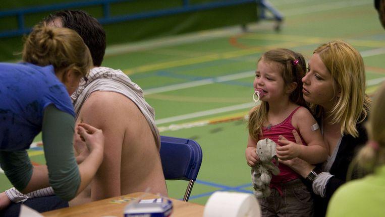 Vaccinatieronde tegen de Mexicaanse griep in 2009. © ANP Beeld