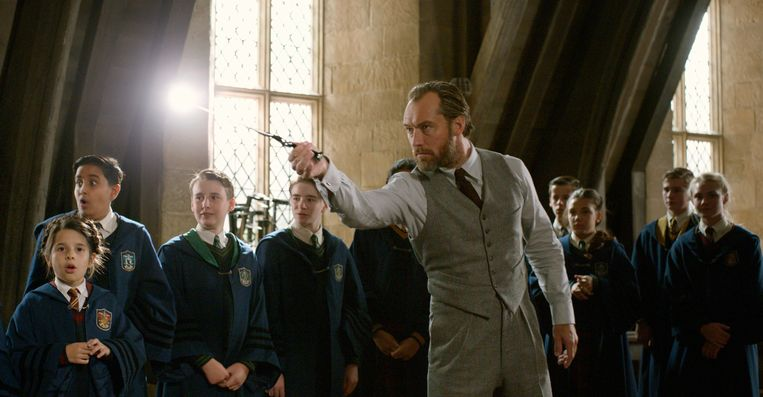 Jude Law in'Fantastic Beasts: The Crimes of Grindelwald' Beeld AP