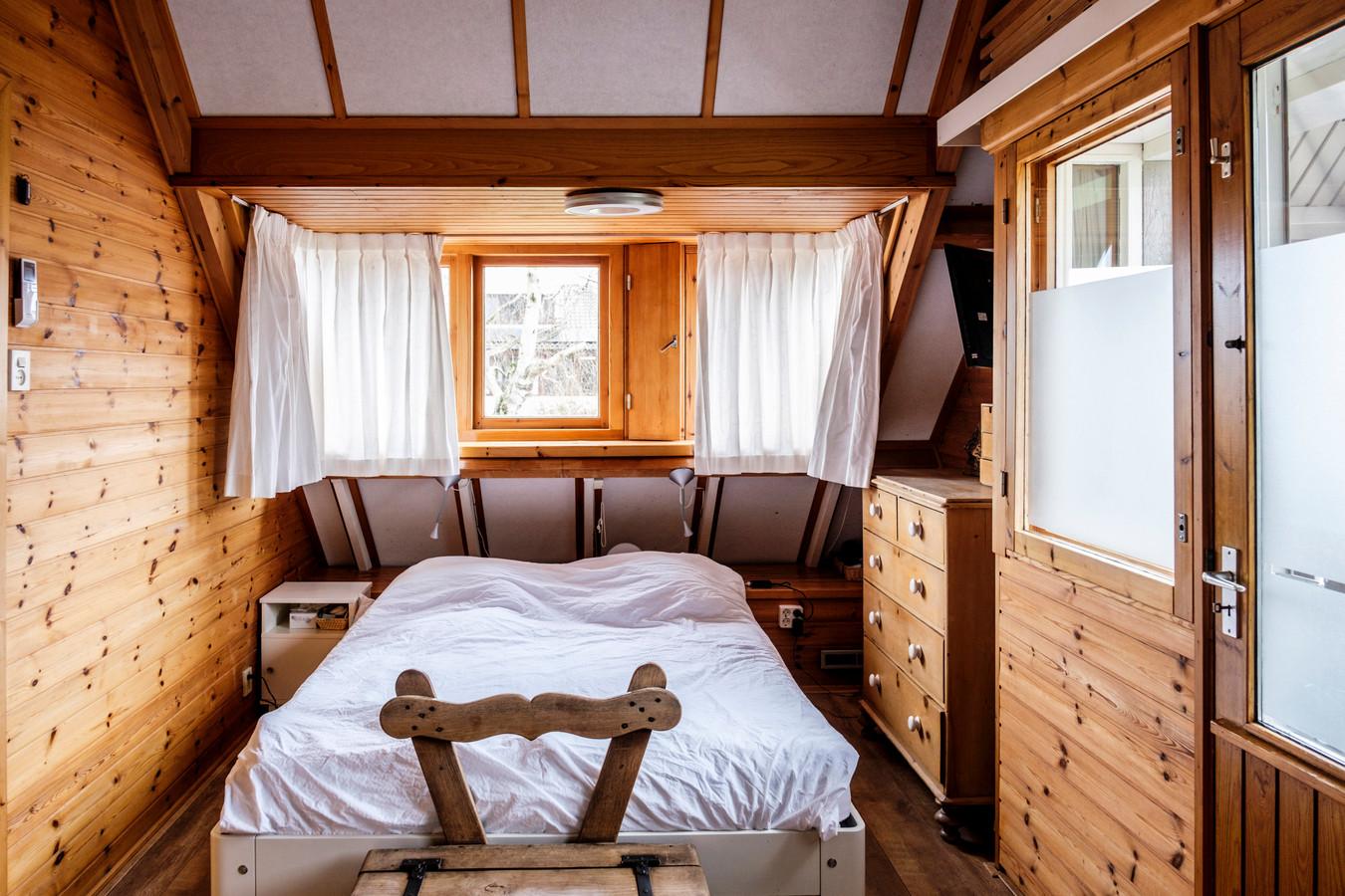 De slaapkamer.