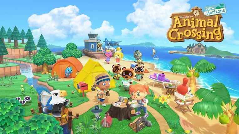 'Animal Crossing' onttroont Mario. Beeld Nintendo