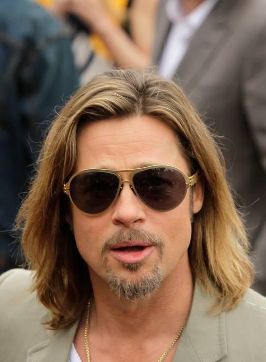 Brad Pitt met snor.