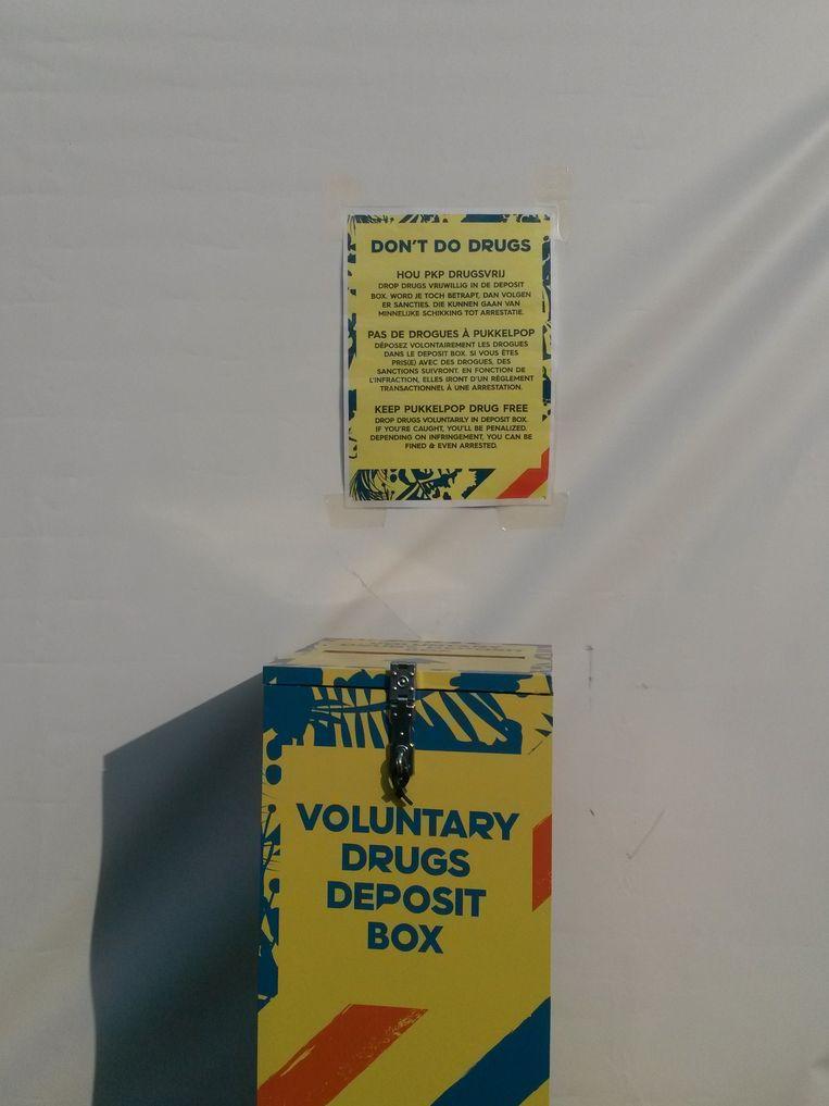 De voluntary drugs deposit box heeft voorlopig geen succes. Beeld AS
