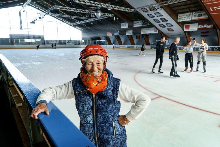 De 70-jarige Christiane Schmidt uit Luik.  Beeld Eric de Mildt