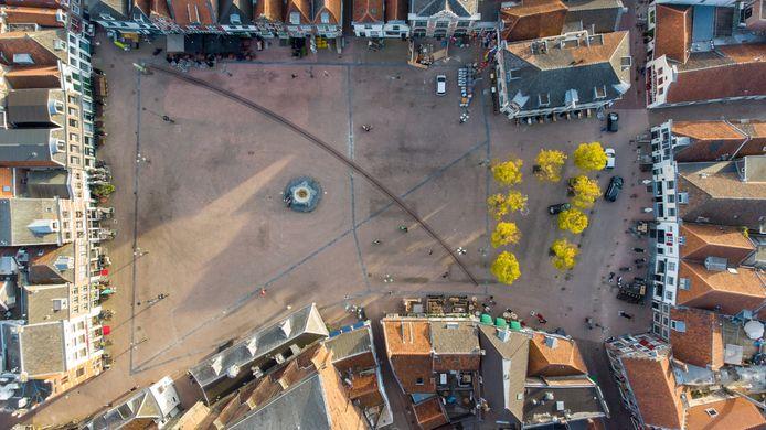Met behulp van opnamen die met een drone zijn gemaakt, zijn de terrassen opnieuw uitgezet op de Hof.