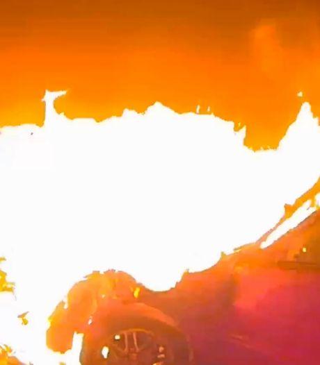 Un jeune de 14 ans percute une maison avec une voiture volée et déclenche un incendie
