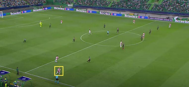 De snelle Antony komt vrij op een doeltrap van Remko Pasveer. Beeld Screenshot Ziggo Sport