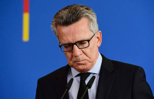 De Duitse minister van Binnenlandse Zaken, Thomas de Maiziere.