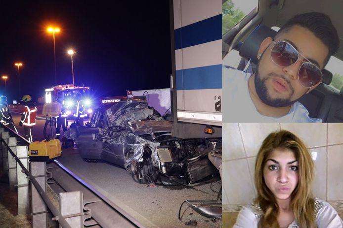 Bij het ongeval donderdag op de E17 in Temse kwamen de 23-jarige Azem Glogov uit Maldegem en zijn passagier, de 20-jarige Sucria Ajriz, om het leven.