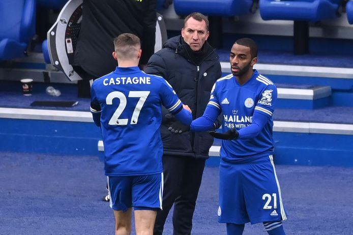 Timothy Castagne a quitté la pelouse après 37 minutes de jeu contre Leeds United.