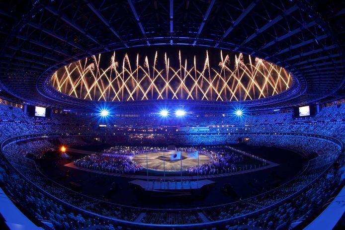Slotceremonie Olympische Spelen Tokio.
